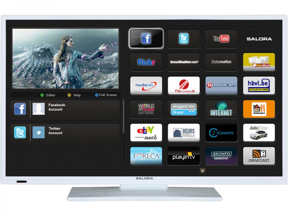 Android Smart TV<br> &amp; Salora<br>39LED8900WH-SMTV